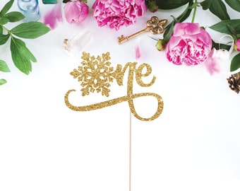 First Birthday Cake Topper - Snowflake Cake Topper - One Cake Topper - Snowflake One Topper - Winter Onederland Topper - Little Snowflake