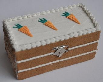 Carrot Cake Wooden Trinket/Jewellery Box
