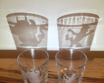Where the Wild Things Are - Etched Rocks Glasses (Set of 2)