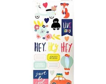 NEW and ON SALE! Lovely Day Accent & Phrase Stickers from Dear Lizzy
