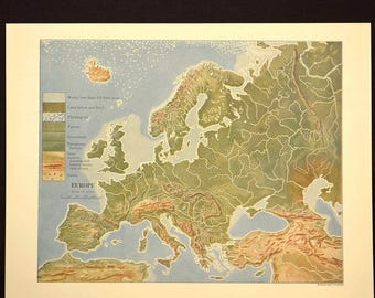 Height Map Europe Etsy - Europe terrain map