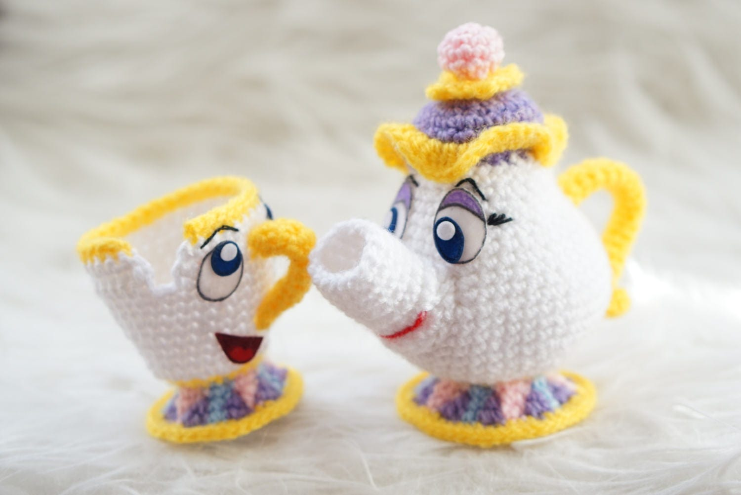 Mrs potts chip christmas decoration - Pack 2 In 1 Mrs Potts And Chip Beauty And The Beast Amigurumi Pattern Disney Movie