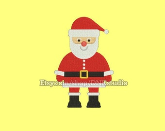 Christmas Santa Machine Embroidery Design - 6 Sizes - INSTANT DOWNLOAD