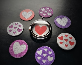 Heart Window Plate for Floating Lockets-Large (30mm)-Valentine's Day-Gift Ideas