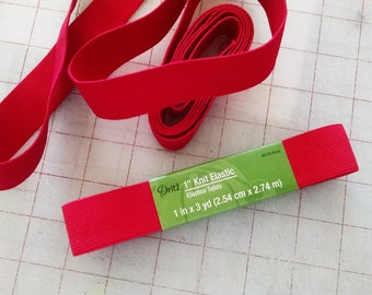 Red Elastic 1 Inch Sewing Supplies Bags Belts DIY Elastic Waistband 0148