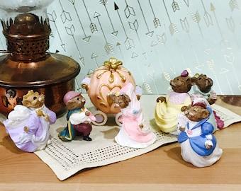 Vintage Hallmark Merry Miniatures Cinderella Fairy Tales Figurines Set of 6