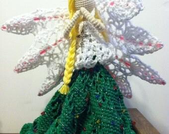 Christmas Tree Angel crochet doll pattern