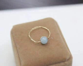 blue rinestone handmade brass gold wire wrapped rings,custom size rings,fashion Thin Gold Ring,bridal jewelry,bridesmaid gift,wedding gift