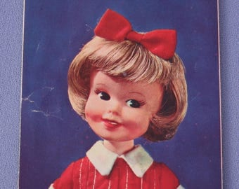 Vintage Topper Toys Penny Brite Doll Johnny Seven Toy and Fashion Booklet, EXC