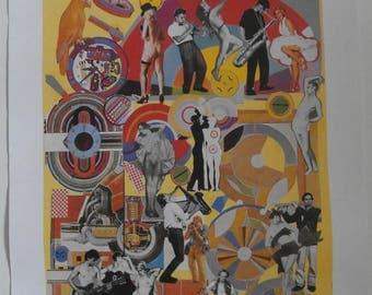 Original 1988 Eduardo Paolozzi Soho Jazz Festival Advertising Poster