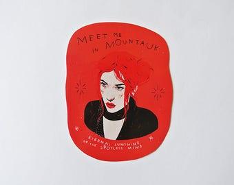 meet me in mountauk - eternal sunshine of the spotless mind  sticker