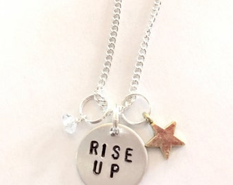 "Hamilton Inspired Necklace - ""Rise Up"""