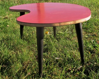 Retro Vintage Kidney Tripod Coffee Table Side Table Atomic Mid Century Modern