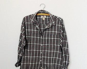 Vintage Plaid Flannel - Women's  - Grunge - Button Down