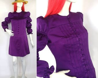 Vintage 1960s purple Go Go Mod dress  / Goldie Hawn / Cathy McGowan / Carnaby Street