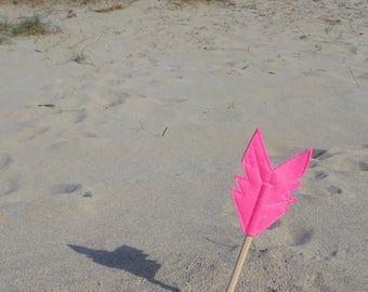 Pink Felt Arrow SUNDANCE Pencil Topper, Pink Arrow, Vegan