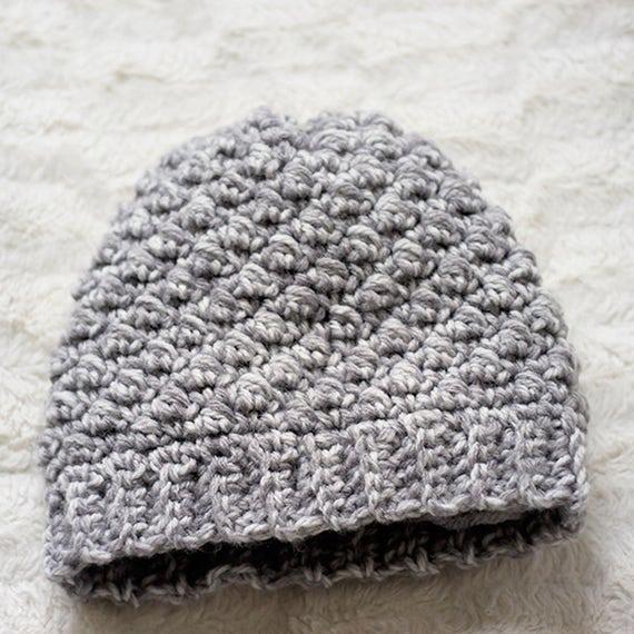 PDF Crochet Pattern - Emily Womens Beanie Hat