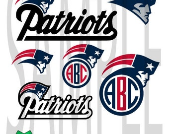 SALE!! New England Patriots svg dfx png eps layered cut cutting files cricut silhouette cut decal vinyl