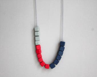 Minimalist Polymer Clay Jewelry - Polymer Clay Necklace - Fimo Jewelry - Beads Necklace - Handmade Clay Necklace - Colourful Jewelry