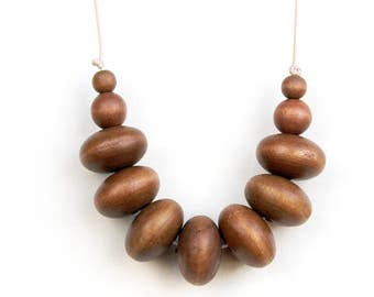 Back to Nature - Wooden Beaded Necklace