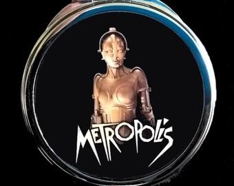 "Pocket mirror or bag ""METROPOLIS"" art deco"