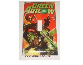 Green Arrow Comic Book Toggle, Rocker Light Switch & Power Outlet Duplex Plate Cover home decor