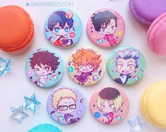 Haikyuu!! PINS SET - Hinata, Kageyama, Oikawa, Tsukishima, Kenma, Kuroo, Bokuto