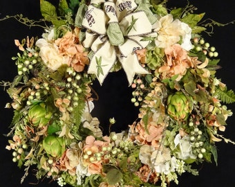 Sale Wreath,Summer Wreath,Spring Wreath,Grapevine Wreath,Summer Door wreath,front door wreath,floral wreath,Luxury wreath,Silk Flower Wreath
