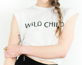 WiLD CHILD White Vintage Wash Raglan Tee