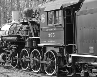 Steam train, steam locomotive, train photography, black and white photography, wall art, train decor, train, fine art print, Father's Day