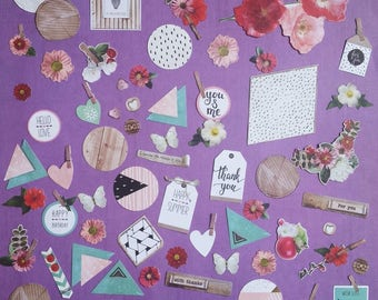 "Ephemera set ""spring"" (die cuts)"