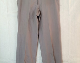 1970s Slacks - Mens Wool Khaki Pants size 33 by 29