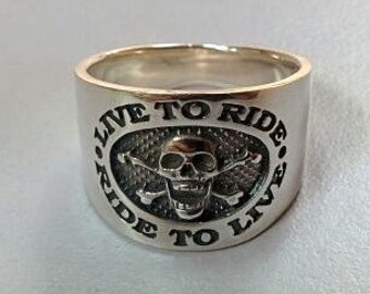 American Biker Harley Sterling Silver 925 Motorcycle Ring All Sizes US 6-15