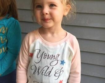 Young Wild and Three Shirt - Third Birthday Shirt - Three Year Old Shirt - Toddler Shirt - 3 year old shirt - 3rd Birthday shirt - Third
