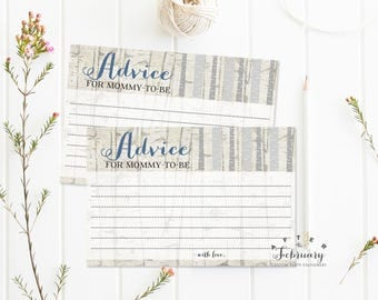 Baby Shower Advice Card for Mommy Baby Shower Games Rustic Baby Shower Games Boy Printable // INSTANT DOWNLOAD No.645BABY