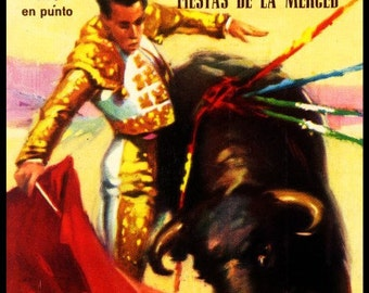 "Bullfighting - Plaza De Toros Monumental Barcelona #48 Canvas Art Poster 12""x 24"""