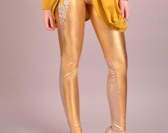 Spandex Leggings, Yoga Pants, Printed Leggings, Yoga Leggings, Gold Leggings, Fitted Leggings, Sexy Leggings, Metallic Leggings