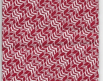 New Red and White Arrows 100% cotton fabric by the Fat Quarter