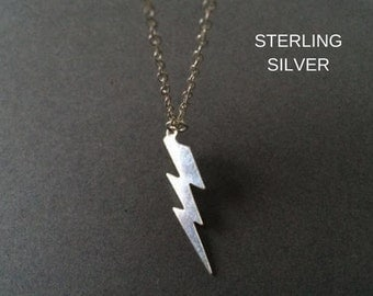 Lightning Bolt Necklace, Silver Lightning  Necklace, Sterling Silver Necklace, Birthday Gift,Mothers Day Gift