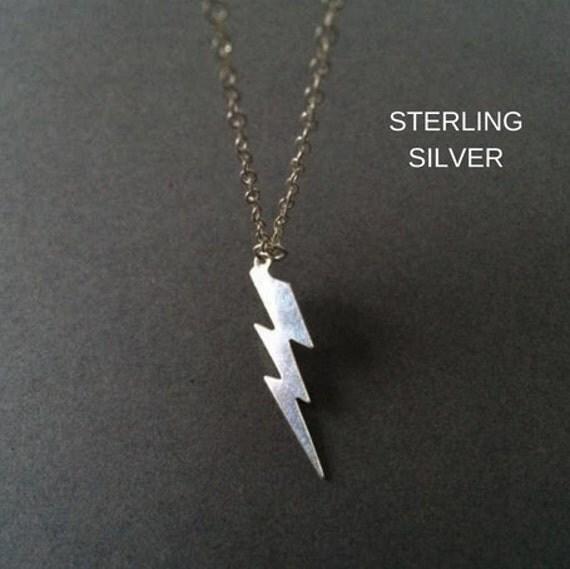 Silver Lightning Bolt Necklace Uk