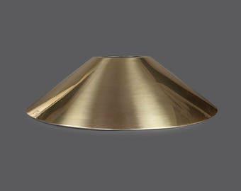 Mid Century Brass Lampshade Spun Cone Lamp Shade Round Shape Large Size Vintage