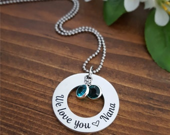 Nana Necklace | Gifts For Nana | Birthstone Nana Necklaces | Nana Gift | Birthstone Necklace For Nana | Nana Gifts | Grandmother Necklace