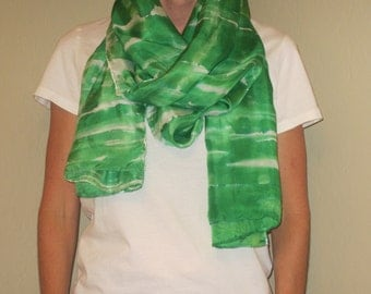"Silk Scarf, 22""x72"", Defy Collection-Emerald Green"
