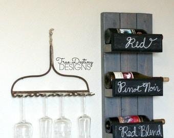 barn wood wine rack etsy. Black Bedroom Furniture Sets. Home Design Ideas