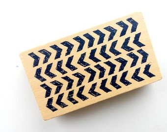 Wood rubber chevron stamp