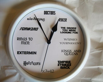 Geek Nerd Clock, 8.75 inches