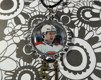 David Desharnais Bottle Cap Necklace #2 w/ #51 Charm Montreal Canadiens FREE SHIPPING