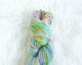 rainbow fish - worsted weight yarn - superwash merino wool