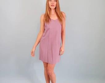 Pretty Lilac Cotton Slip Dress/Mini Dress