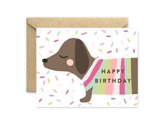 Dachshund Birthday - Greeting Card